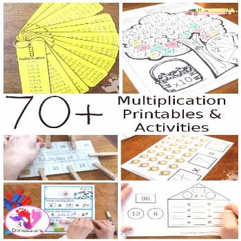 70+ Multiplication Printables & Activities 70+ Multiplication Printables & Activities - with packs,