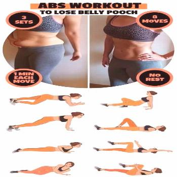 8-Minute Abs Workout To Lose Belly Pooch Fast This abs workout is the best way to lose belly pooch