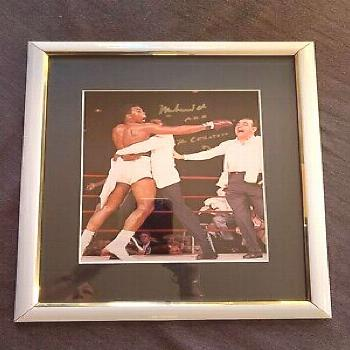 "Ad(eBay Link) Muhammad Ali 8x10 Framed autographed pic signed ""Muhammad Ali aka The Greatest"""