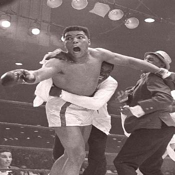 An Excited Muhammad Ali after another hard fought Victory An Excited Muhammad Ali after another har