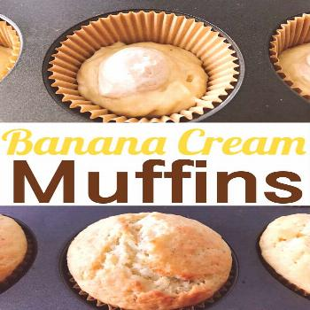 Banana Cream Muffins - The Mommy Mouse Clubhouse Banana Cream Muffins are moist and packed with ban