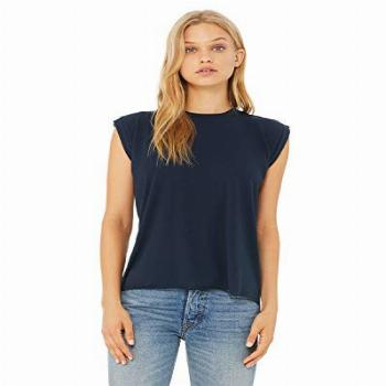 Bella + Canvas - Women's Flowy Muscle Tee with Rolled Cuffs