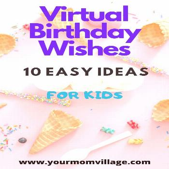Birthday Wishes for kids How to host a virtual birthday day.  10 Easy ideas to help celebrate a bir