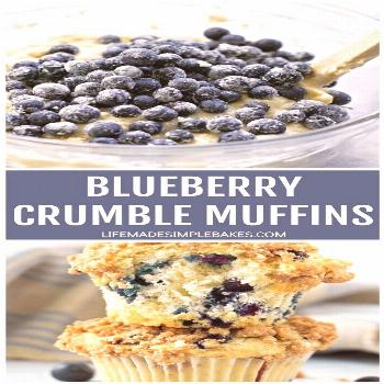 Blueberry Crumble Muffins These blueberry crumble muffins are sure to become a summer favorite! The
