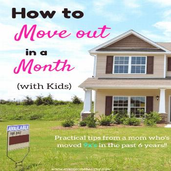 Check out these tips and steps on how to move out in a month with kids, and on a budget! | checklis