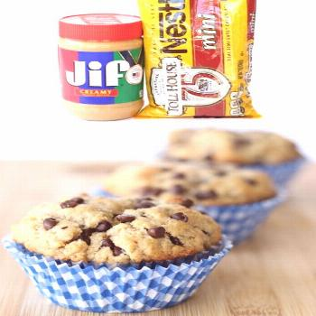 Chocolate Chip Muffins with Peanut Butter! {So EASY} Muffin Recipes - Easy Chocolate Chip Peanut Bu