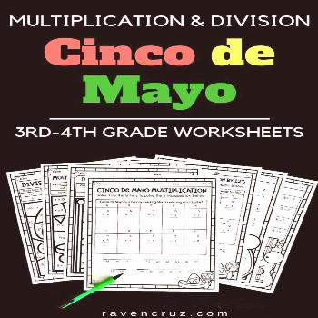 Cinco de Mayo Worksheets Click the link and/or photo to snag these Cinco de Mayo worksheets for 3rd
