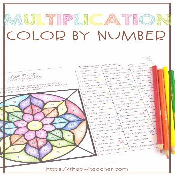Engage your students with this multiplication color by number activity! Help students practice thei