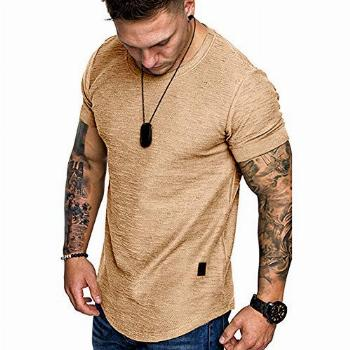 Fashion Mens T Shirt Muscle Gym Workout Athletic Shirt