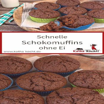 Fast chocolate muffins without eggs - -