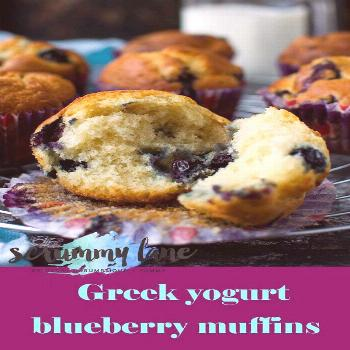 Foolproof Greek yogurt blueberry muffins - a light, airy and delicious recipe that also happens to
