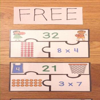 Free Array Multiplication Game 3rd Grade Math Center Puzzles,  Free Array Multiplication Game 3rd G