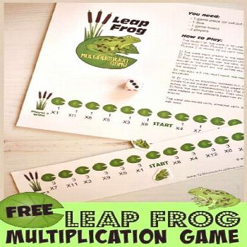 FREE Leapfrog Multiplication Game FREE Frog Multiplication Game - free printable math game makes pr