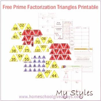 Free Prime Factorization Triangles Printable (Upper Grades) - Other Math Resources - Homeschool Giv