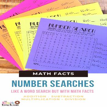 Fun Math Fact Fluency Games for Students No more boring math fact practice! Kids love Number Search