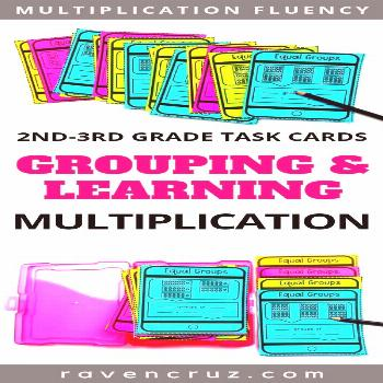 Grouping and Learning Multiplication Task Cards Grab these grouping or equal groups and learning mu