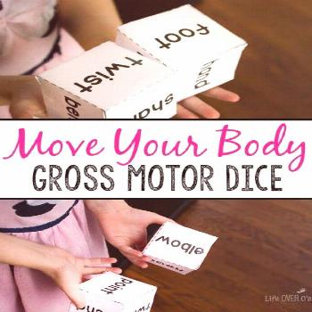 Have fun moving your body with this body gross motor dice game! Great for brain breaks, rainy days