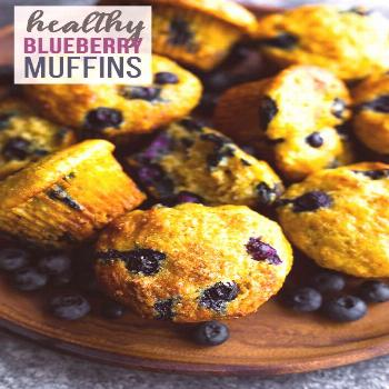 Healthy blueberry muffins are the perfect blend of healthy and delicious! With greek yogurt, whole