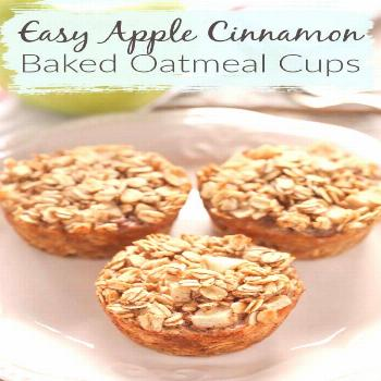 Here is an easy recipe for an on-the-go breakfast for your busy mornings. These Apple Cinnamon Bake