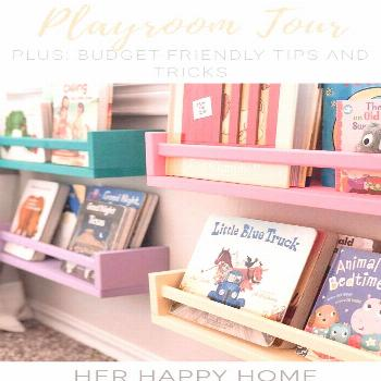 Home Tour: Our Playroom on a Budget Are you looking for playroom inspiration without breaking the b