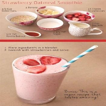 Idée pour DIY Masque : Strawberry Oatmeal Breakfast Smoothie  13 Oatmeal Smoothies Worth Waking Up