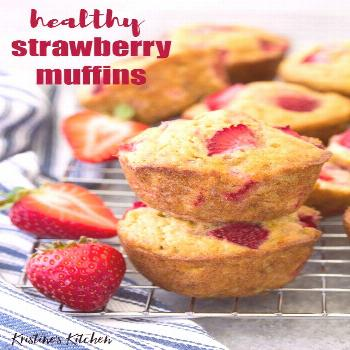 Make these healthy strawberry muffins to stock your freezer for quick breakfasts and snacks! This e