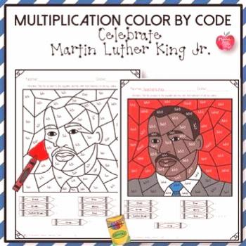 Martin Luther King Jr. Activities: Multiplication Color by Code 50% off 24 hrs! -  Keywords: Printa