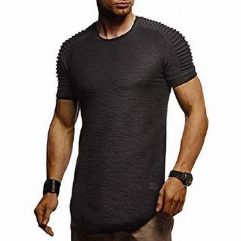 Mens Muscle T-Shirt Athletic Gym Running Short Sleeve