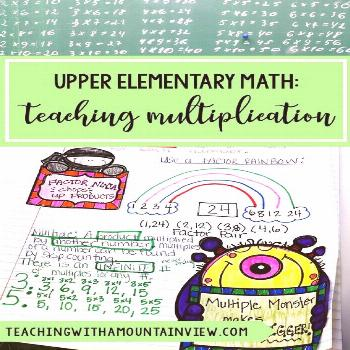 MORE Multiplication Resources and Ideas Are you teaching upper elementary (fourth and fifth) grade