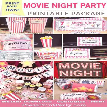 MOVIE NIGHT PARTY PACKAGE