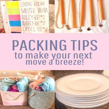 Moving tips. Tips for an easier move. Packing tips for moving. Moving hacks to make your move easie
