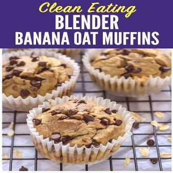 Muffins made with no flour, no butter, and no oil! This healthier banana oatmeal muffins recipe is