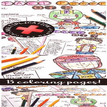 Multiplication Coloring Worksheet Multiplication Coloring Worksheet Count On Tricia Triciateaching