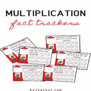 Multiplication Fact Tracker Help your students keep track of their mastered multiplication facts wi