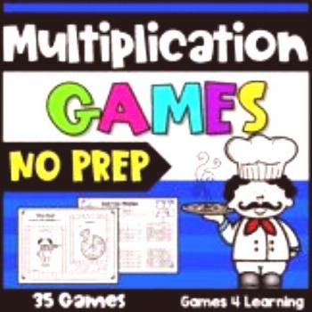 NO PREP Multiplication Games: Facts Fluency for 2nd, 3rd and 4th Grades -