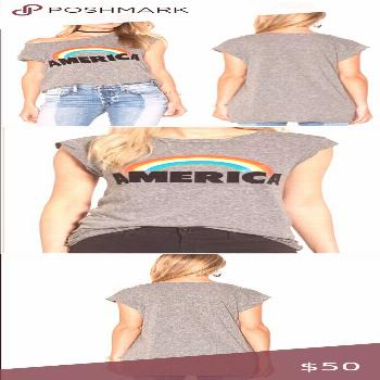 Pam & Gela Frankie America Rainbow ? Muscle Tee Pam & Gela Muscle Tee  Size Small Excellent Cond