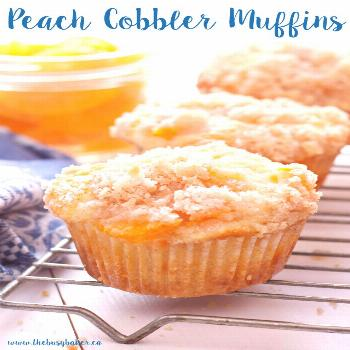 Peach Cobbler Muffins. These were fantastic! Highly recommend - they required an extra 10 minutes t