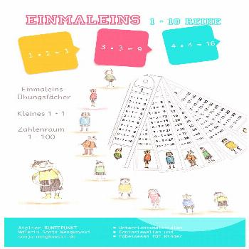 Practice small multiplication tables - subjects - 1-10 row - number range 1 - 100 - -