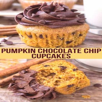 Pumpkin Chocolate Chip Cupcakes - -
