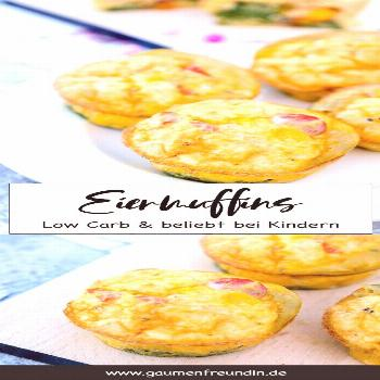 Quick egg muffins - delicious snack for children & low carb breakfast - -