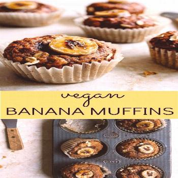 Recipes For School Vegan Banana Muffins (small batch) made with flax seed, coconut oil, and coconut
