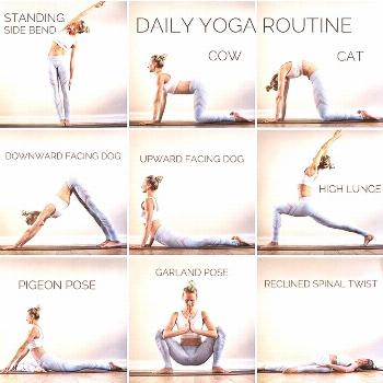 Some days, it's just not possible to put in a full hour of yoga. But most days will allow for this