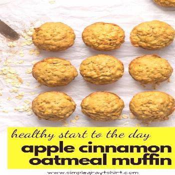 super easy healthy muffin recipe Apple cinnamon oatmeal breakfast muffins make your morning simple