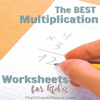 The BEST Interactive Multiplication Worksheets to Keep Practice FUN Looking for out of the box mult