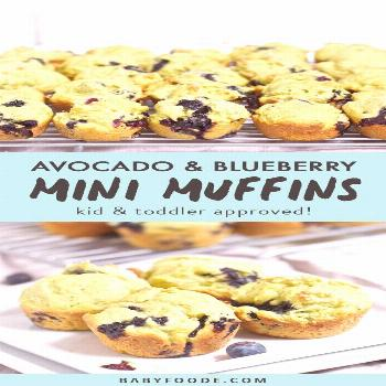 These Avocado and Blueberry Mini Muffins are the perfect healthy snack to have on hand! They are li