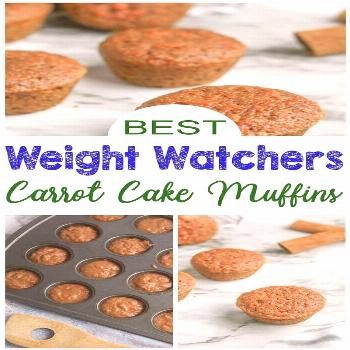 These easy Carrot Cake Weight Watchers Muffins Recipe are a perfect small treat, Weight Watchers de