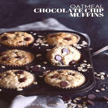 These four ingredientOatmeal Chocolate Chip Muffins are so incredibly easy that they take just fi
