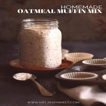 This six ingredient Homemade Oatmeal Muffin Mix is perfect to keep on hand in your pantry for a qui
