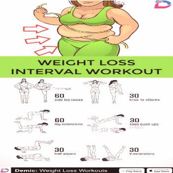 WEIGHT LOSS INTERVAL WORKOUT - Full body hiit workout routine to burn full body fat. Weight loss.