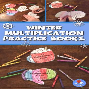 Winter Multiplication Winter Multiplication Practice Books make learning and reviewing multiplicati